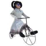 bewegende halloween decoratie meisje fiets geluid