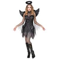 dark angel kostuum dames zwarte engel