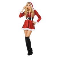 sexy kerstvrouw jurkje dames kort
