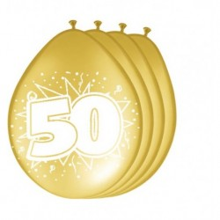 Ballonnen 50 Metallic Goud 30cm 8st
