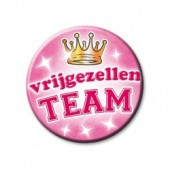 Button Vrijgezellen Team Roze