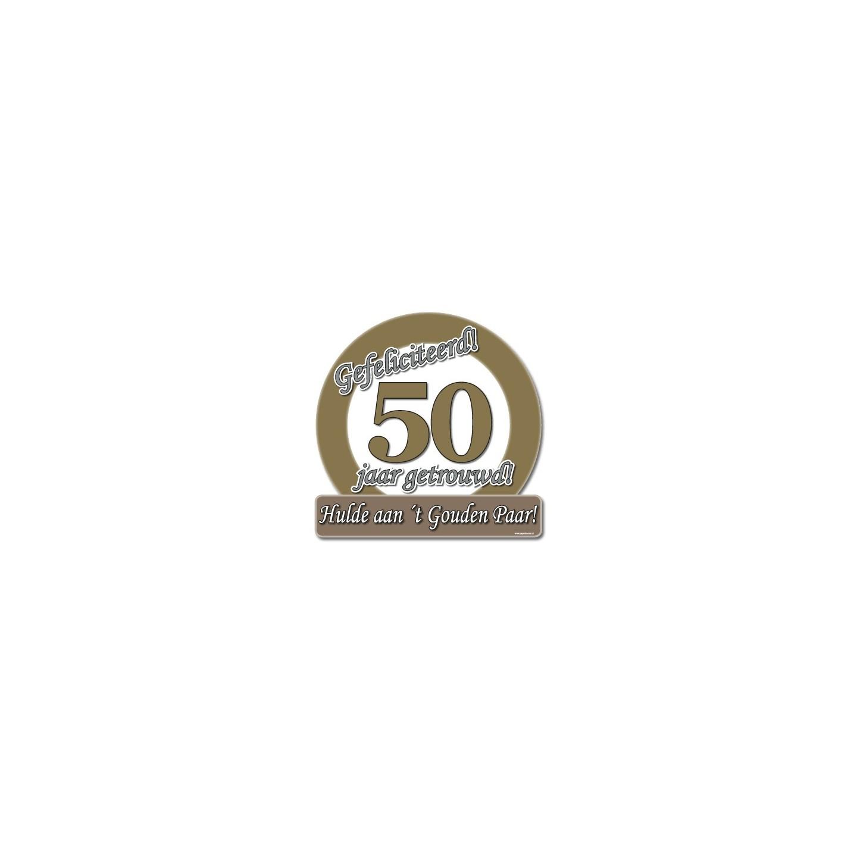 Huldeschild 50 jaar getrouwd jokershop verkleedwinkel for Gouden bruiloft versiering