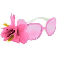 Bril Audrey roze met bloem