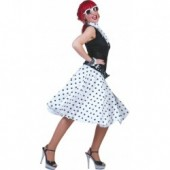 Rock n Roll Rok Polka Wit/Zwart