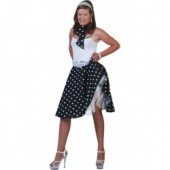 Rock n Roll Rok Polka Zwart/wit