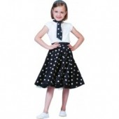 Rock n Roll Rok Polka Zwart/wit KIND
