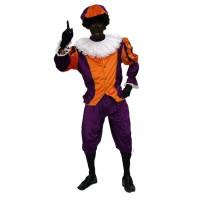 Zwarte Pietenpak Unisex Paars/Oranje