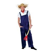 Tuinbroek kabouter, boer of werkman blauw