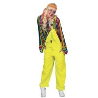 Neon tuinbroek fluo geel unisex