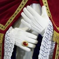 Luxe handschoenen dik katoen wit