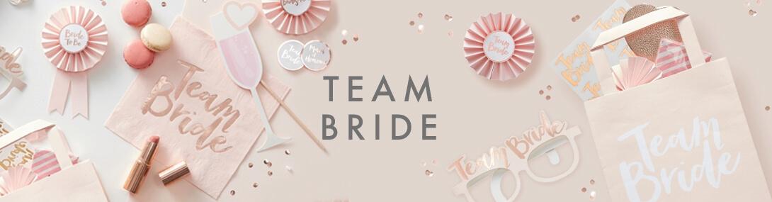vrijgezelenfeest accessoires team bride feestartikelen