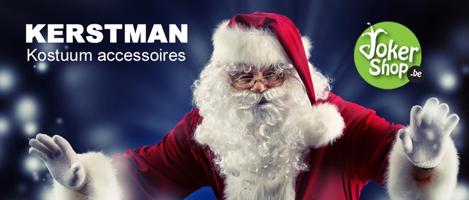 kerstman kostuum accessoires baard pruik zak kerstbel bel laarzen