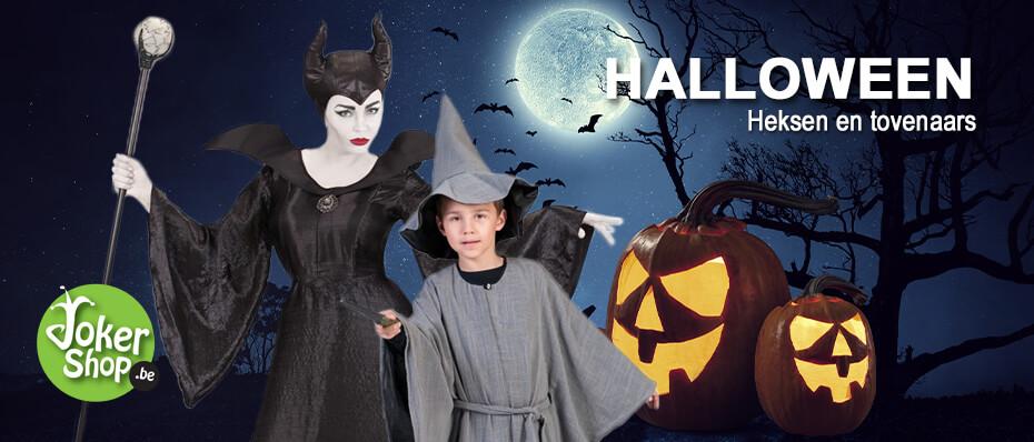 Halloween heksen tovenaar kostuum kleding