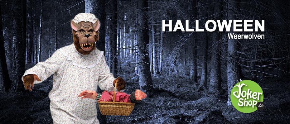 Halloween weerwolf griezelig kleding accessoires