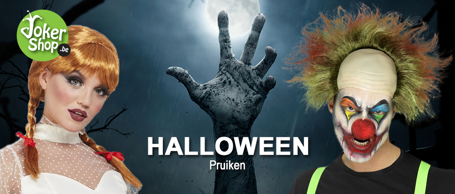 Halloween pruiken horror griezel