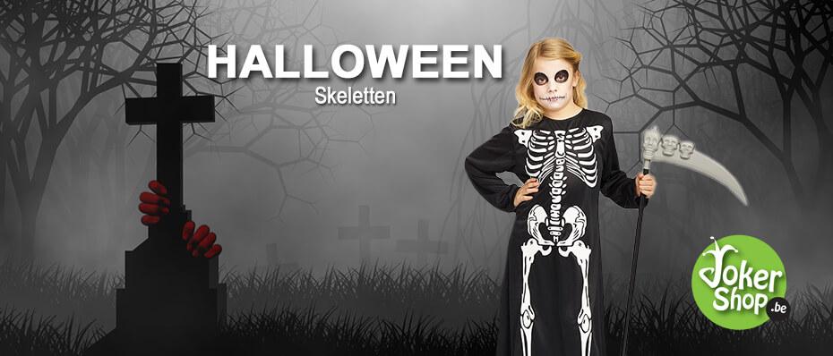 Halloween skelet accessoires kleding decoratie