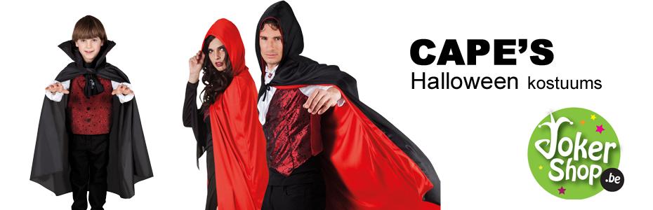 rode zwarte cape halloween carnaval griezel horror vampier zombie dracula