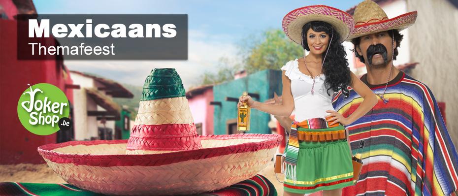 mexicaans themafeest kleding jurkje kostuum poncho versiering