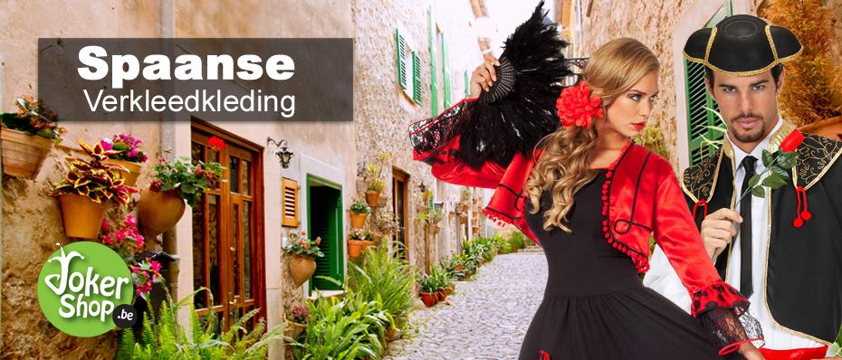 spaanse kleding jurk kostuum spaanse carnavalskleding verkleedkleding