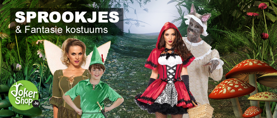 sprookjes kleding kostuums carnaval verkleedpakken verkleedkledij