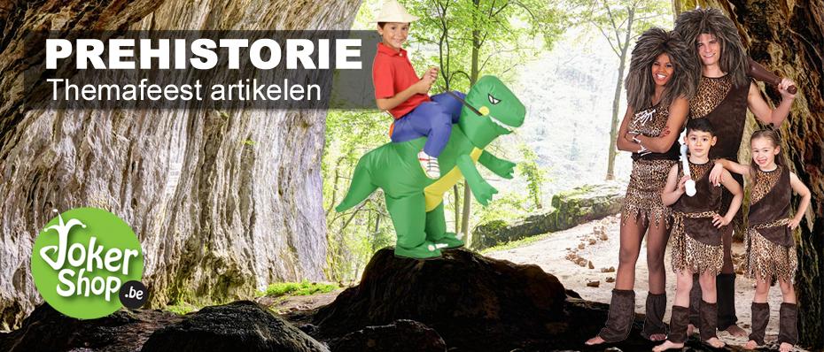 prehistorie kleding holbewoner kostuum carnaval dinosaurus pak