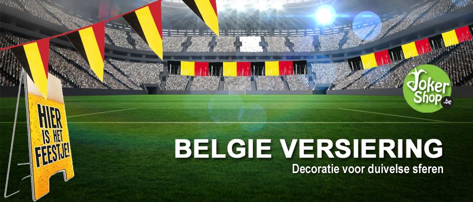belgie versiering rode duivels decoratie vlag