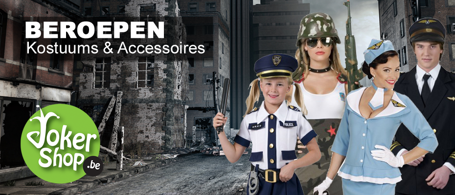beroepen kostuum pak verkleedkleding carnavalskostuum politiepak leger soldaat brandweerman pilotenpak stewardess verkleedkleding