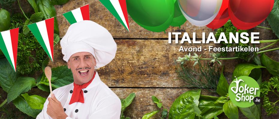 italiaans thema feest kleding versiering decoratie