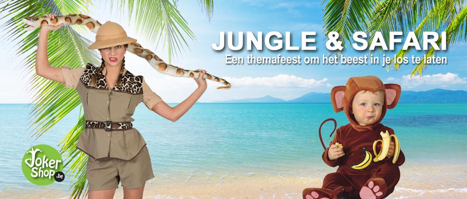 jungle themafeest safari kleding accessoires decoratie