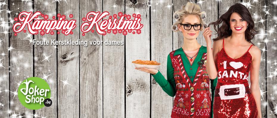 foute kerstkleding dames kamping kerstmis outfit