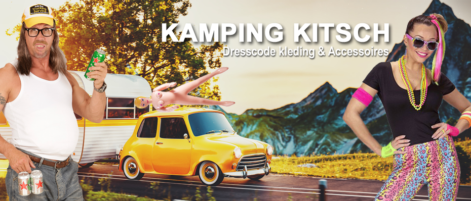 kamping kitsch kleding dresscode foute outfit