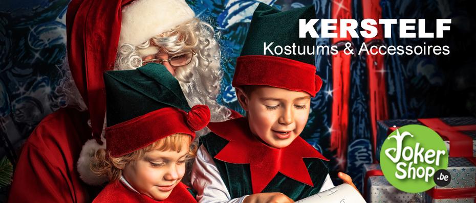 kerstelf kerst elfjes kostuum pakje kleding elfenoortjes elfenschoenen verkleedkleding