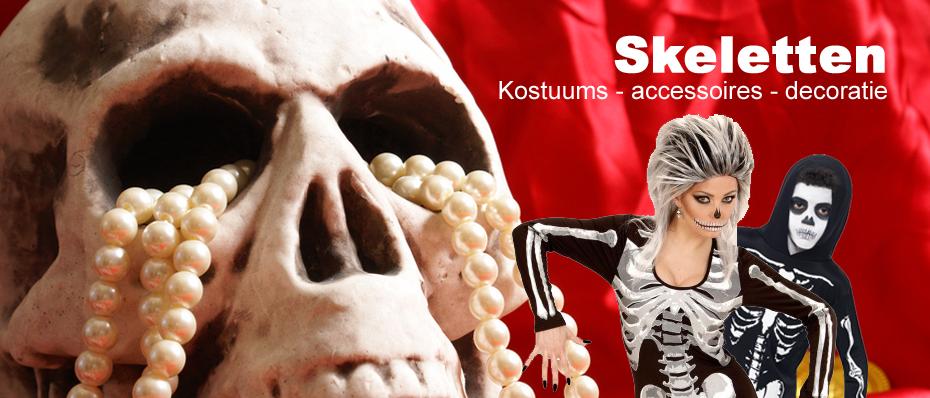 skeletten skeletpak kostuum decoratie skelet doodskop