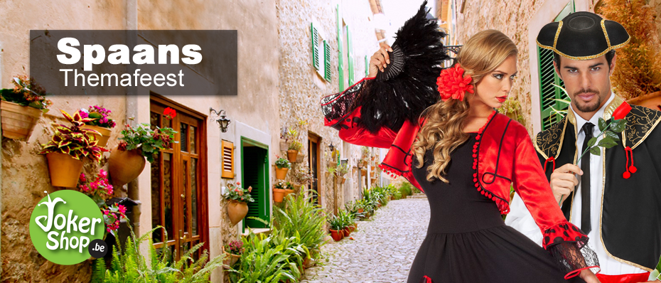 spaanse themafeest kleding jurk kostuum accessoires versiering