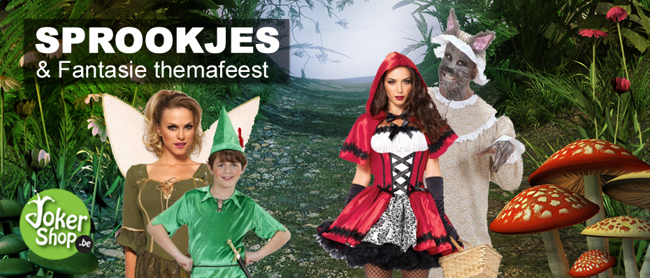 sprookjes themafeest kleding kostuum pak carnaval verkleedkledij accessoires