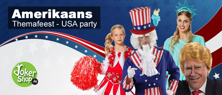 amerikaans themafeest kleding USA versiering amerika decoratie
