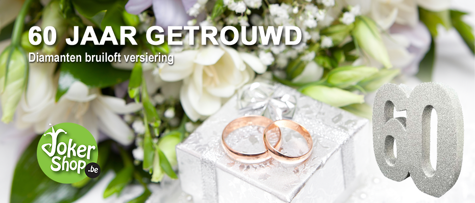 versiering 60 jaar getrouwd decoratie diamanten bruiloft