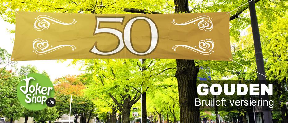 50 jaar getrouwd versiering gouden for Ballonnen versiering zelf maken