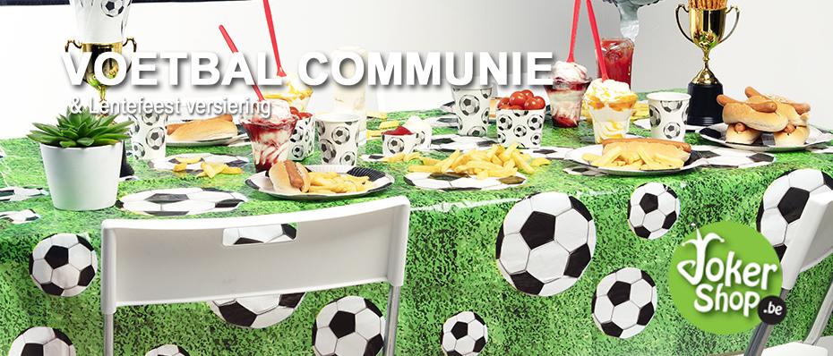 versiering communie voetbal lentefeest decoratie