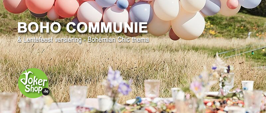 boho communie versiering bohemian chic lentefeest