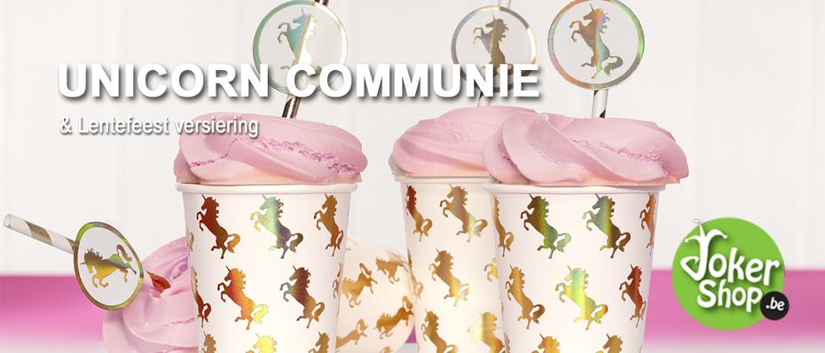 versiering communie unicorn eenhoorn lentefeest decoratie