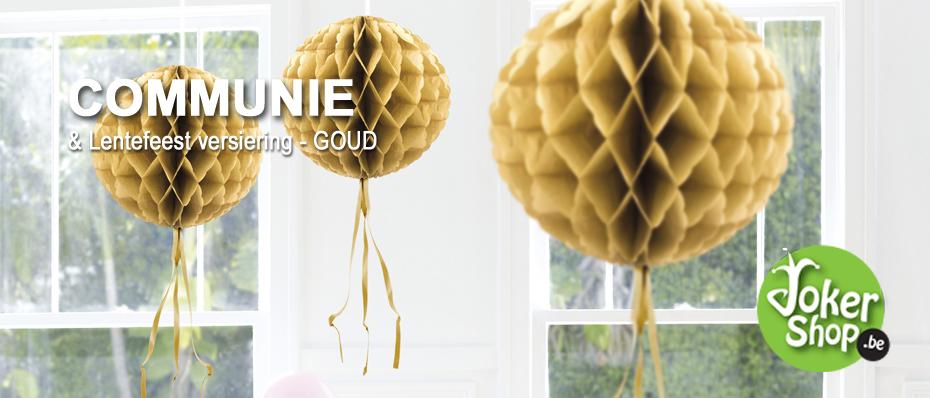 communie versiering goud lentefeest decoratie