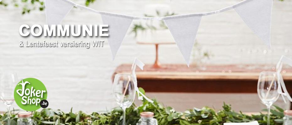 witte communie versiering lentefeest decoratie wit
