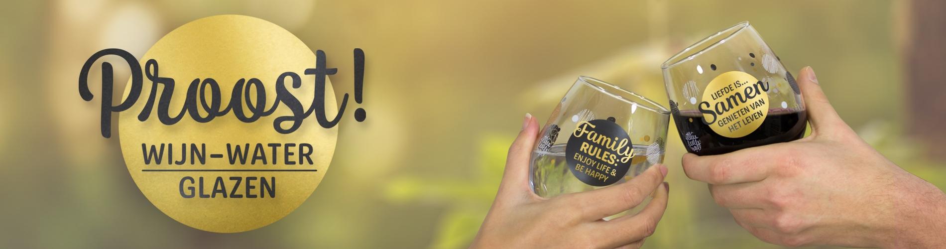 kleine cadeautjes onder 10 euro waterglas