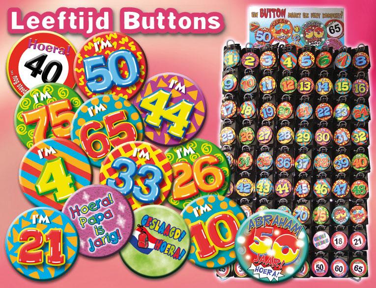 leeftijd pins verjaardag button