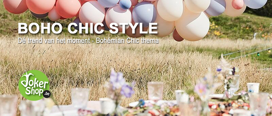 boho chic versiering themafeest decoratie bohemian