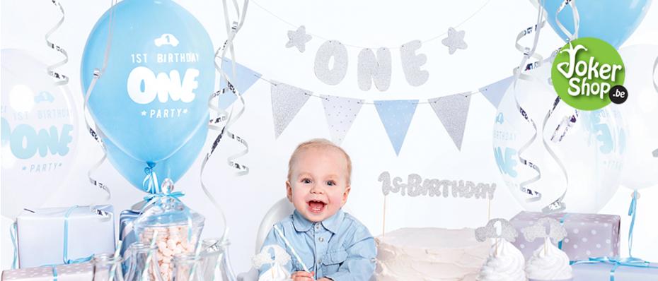 1ste verjaardag versiering jongen feest decoratie