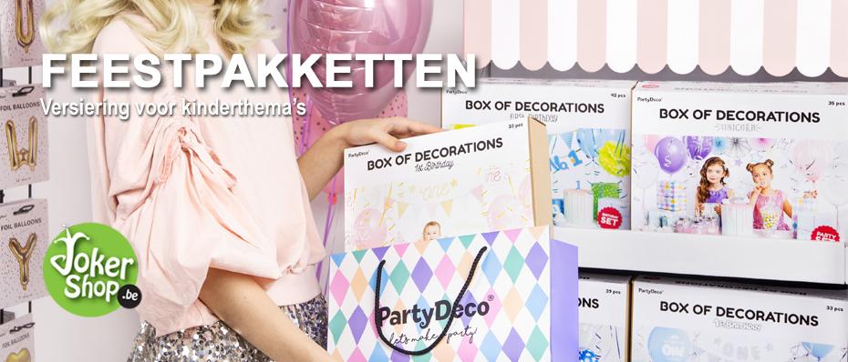kinder verjaardag versiering thema feestpakket