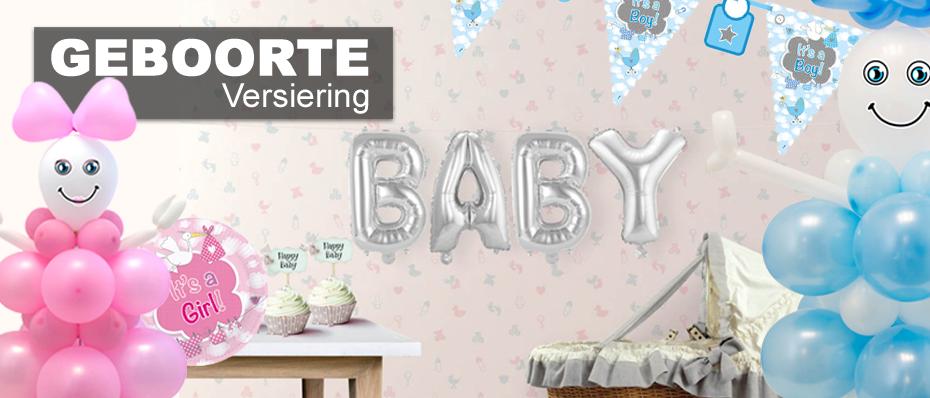geboorte versiering decoratie feestartikelen jongen meisje geboorte