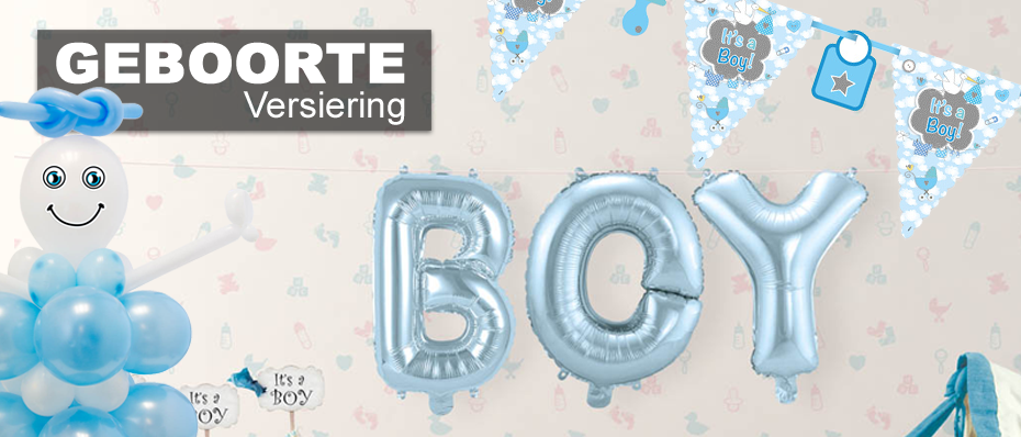 geboorte versiering decoratie feestartikelen jongen